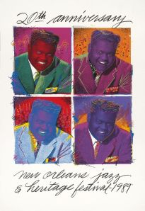 Richard C. Thomas Fats Domino Poster